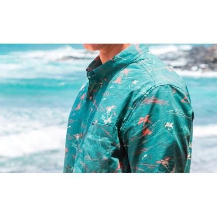 Dakine Poipu Pixel Palm Shirt Detail