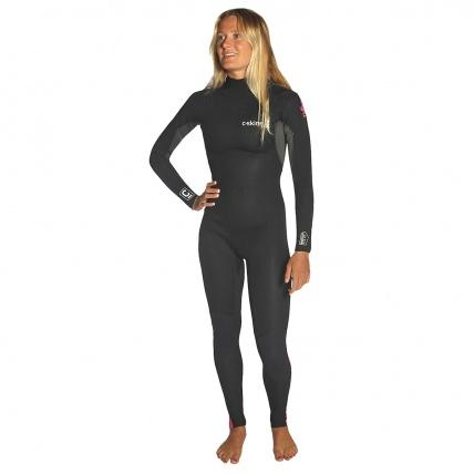 C-Skins Womens Surflite 3:2 Steamer BZ Wetsuit Coral Gun Black