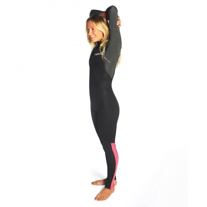 C-Skins Womens Surflite 3:2 Steamer BZ Wetsuit Coral Gun Black Side