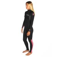 C-Skins - Womens Surflite 3:2 Steamer BZ Wetsuit Coral Black