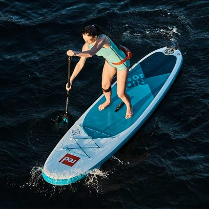 Red Paddle Co Alloy 3 Piece Adjustable SUP Paddle in use