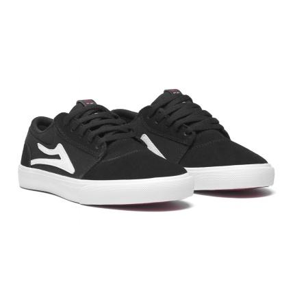 Lakai Griffin Kids Black White Skate Shoes