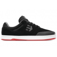 Etnies - Marana Skate Shoe in Black and White Red Sole