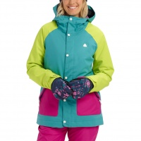 Burton - Eastfall Green Blue Slade Wmns Snow Jacket
