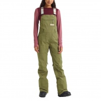 Burton - Avalon Bib Martini Olive Wmns Snow Pants Short