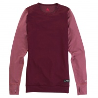 Burton - Womens Midweight Base Layer Crew Rose Brown