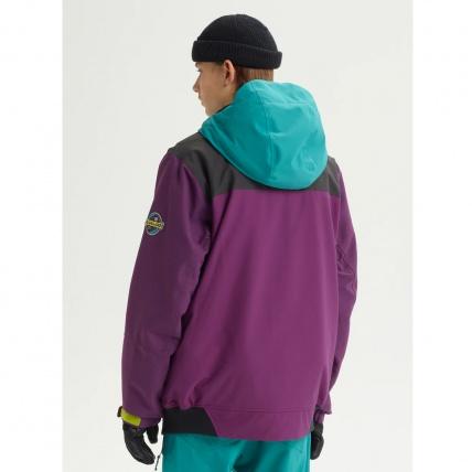 Analog Creed Green-Blue Mens Snowboard Jacket back
