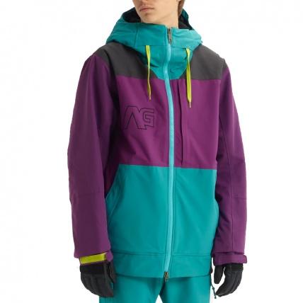 Analog Creed Green-Blue Mens Snowboard Jacket