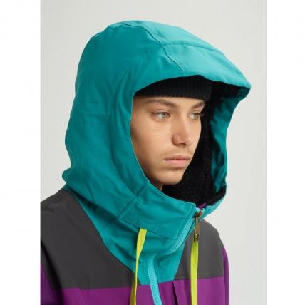 Analog Creed Green-Blue Mens Snowboard Jacket hood
