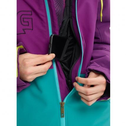 Analog Creed Green-Blue Mens Snowboard Jacket media pocket