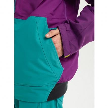 Analog Creed Green-Blue Mens Snowboard Jacket pocket