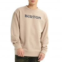 Burton - Mens Oak Crew Sweatshirt Plaza Taupe Heather