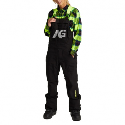 Analog Ice Out True Black Mens Snowboard Bib Pant front