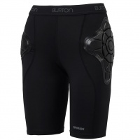 Burton - Womens Total Impact Shorts by G-Form Black