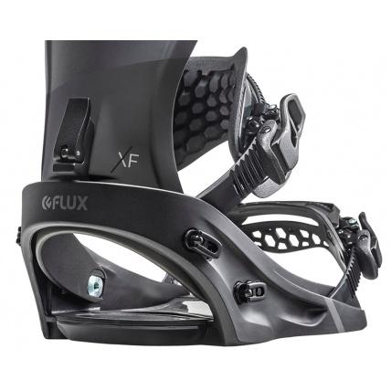 Flux XF Metallic Black Snowboard Binding Detail
