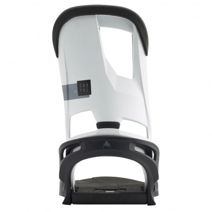 Burton Cartel Re:Flex White Black Snowboard Binding high back