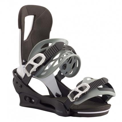 Burton Cartel Re:Flex White Black Snowboard Binding front