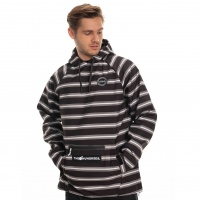 686 - X The Hundreds Black Stripe Waterproof Hoody