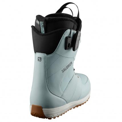 Salomon Ivy BOA SJ Sterling Blue Womens Snowboard Boot back