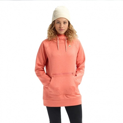 Burton Womens Crabapple Heather Oak Pullover Hoodie