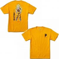 Primitive - Dragon Ball Z Goku Gold Tee