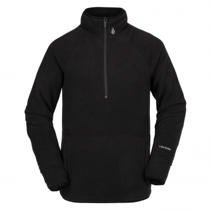 Volcom Polartec 1/2 Zip Black Mens Fleece