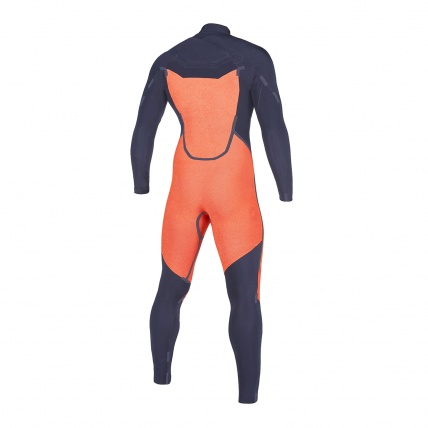 Mystic Marshall 5/3mm Navy Lime FZ Mens Winter Wetsuit inside back
