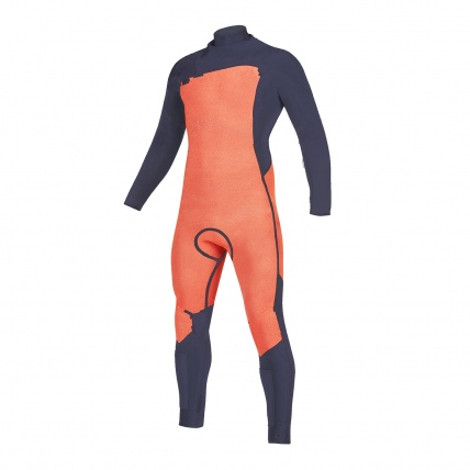 Mystic Marshall 5/3mm Navy Lime FZ Mens Winter Wetsuit inside front