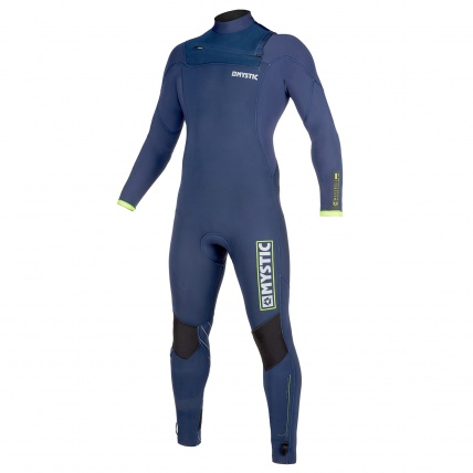 Mystic Marshall 5/3mm Navy Lime FZ Mens Winter Wetsuit