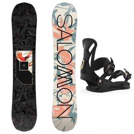 Salomon Salomon Wonder Womens All Mountain Snowboard Package