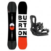 Burton - Custom FV Mens All Mountain Snowboard Package