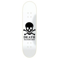 Death - Black Skull Logo Skateboard Deck