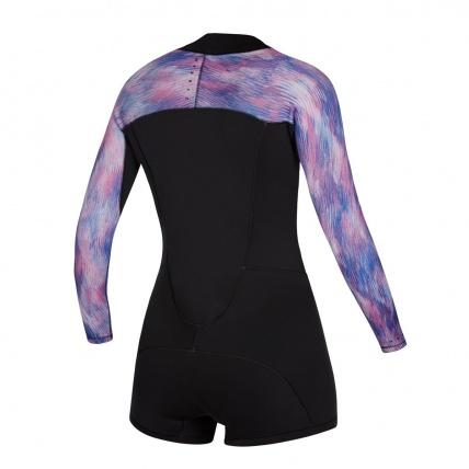 Mystic Diva 2/2mm Longarm Shorty Front Zip Black Purple Wetsuit
