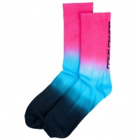Santa Cruz - Strip Fade Crew Sock Magenta
