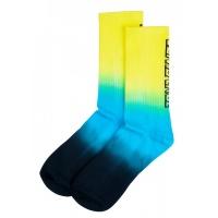 Santa Cruz - Strip Fade Crew Sock Yellow