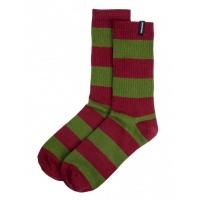 Santa Cruz - Dip Socks Strip Wine Olive