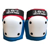 187 Killer Pads - Fly Knee Red White Blue