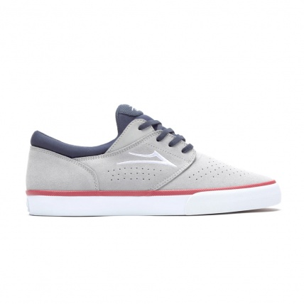 Lakai Fremont Vulc Light Grey Navy Suede Skate Shoes