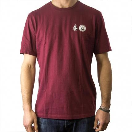 Volcom Macba Life OG Logo T-Shirt Burgandy