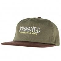 Krooked - Snapback Krooked Eyes Olive Brown