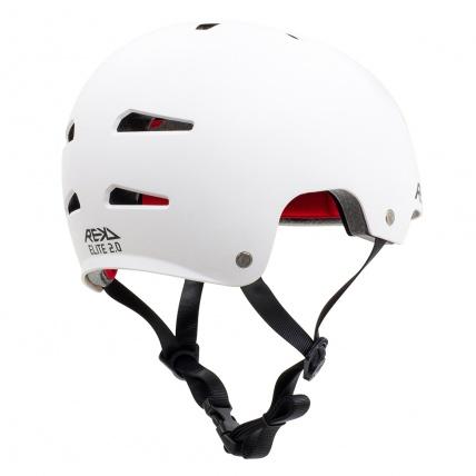 Rekd Protection Elite 2.0 Helmet White Back