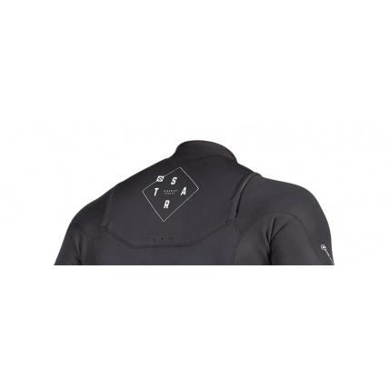 Mystic Star 3/2mm Black Longarm Shorty FZ Mens Wetsuit Rear Detail