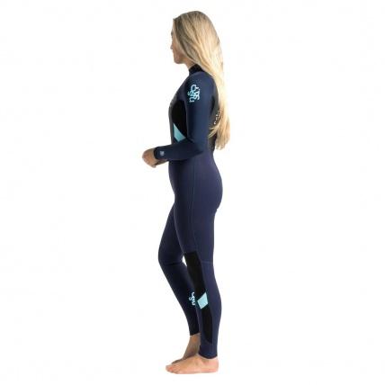 C-Skins Womens Element 3:2 Back Zip Full Wetsuit Slate Ice Blue