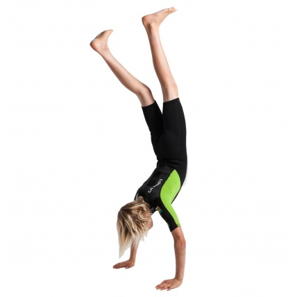 C-Skins Junior Element 3:2 Unisex Shorti Black Lime Wetsuit