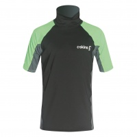 C-Skins - Rash X Junior Short Sleeve Vest Black Lime