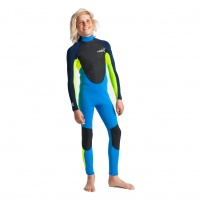 C-Skins - Element 3:2 Junior Unisex Steamer Cyan Yellow Wetsuit