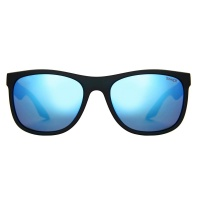 Sinner - Rockford Matte Black Icy Blue Oil Lens Sunglasses