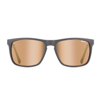 Sinner - Oak Matte Black Grey Red Sintec Lens Sunglasses