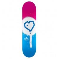 Blueprint - Spray Heart Pink Blue Skateboard Deck 8.0