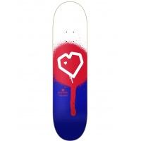 Blueprint - Spray Heart Red Skateboard Deck 8.125